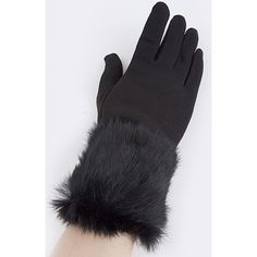 Flash sale!!! Real fur trim gloves HP Black gloves with real fur trim... This is a perfect addition to any winter closet ! Accessories Gloves & Mittens