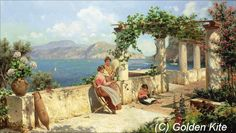 Figures on a Terrace in Capri