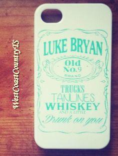 NEW Luke Bryan Iphone 4/4s Whiskey Cell by WestCoastCountryTS