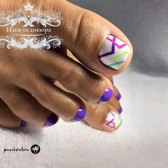 Fabulous Nails Art Designs For Your Toes Sweet Colorful Lines Accent For Toes Fabulous Nails Art Designs For Your Toes See more: naildesignsjourna Toe Nail Color, Toe Nail Art, Nail Colors, Pretty Toe Nails, Cute Toe Nails, Feet Nail Design, Toe Nail Designs, Hair And Nails, My Nails