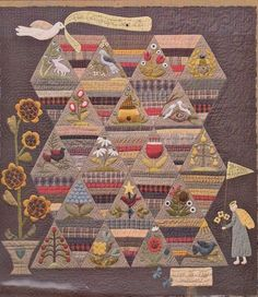 How Does Your Garden Grow - beautiful applique & pieced quilt PATTERN • AUD 41.50 - PicClick AU