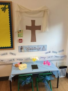 Weddings role play area.. I got a bit too into this! #roleplay #eyfs #earlyears #weddings