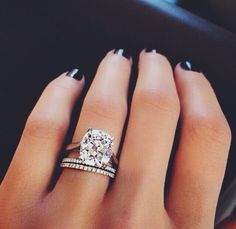 Cushion cut engagement ring - the DREAM.