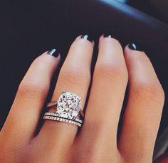 Cushion cut engagement ring - the DREAM.