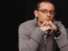 Chester looking like a super hot nerd.