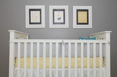 Gray + Yellow Nursery - #nursery