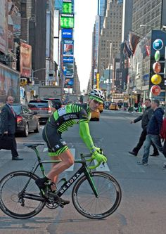 Uli GFNY founder in his new GFNY kit in Times Square