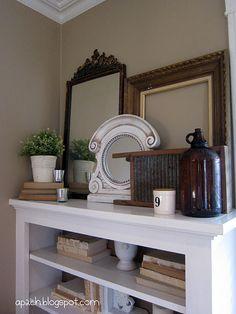 Fab bookshelf decor.