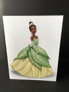Tiana Disney Princess Folded Invitation {The Princess and The Frog} by 2CraftyNerds on Etsy https://www.etsy.com/listing/272047366/tiana-disney-princess-folded-invitation