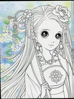 Vintage japanese coloring book 8 anime shojo coloring - Adult manga 2 ...