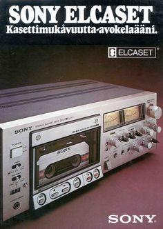 Sony Elcaset Deck. Niemand kent het. Was dikke flop maar technisch heel goed. Hele grote cassettes met meer tape op dubbele snelheid. Voor die tijd geweldig maar...onbekend gebleven.
