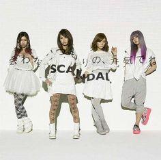 Scandal - Awanai Tsumori no Genki de ne Scandal Japanese Band, Mami Sasazaki, Pop Punk Bands, Band Wallpapers, Cd Cover, Rock Bands, Donald Trump, Fangirl, Collection