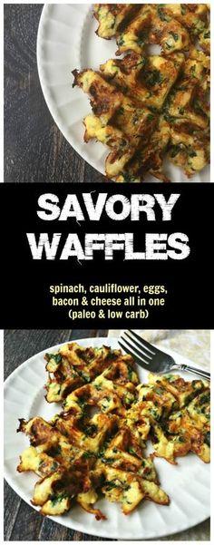 savory paleo waffles low carb gluten free