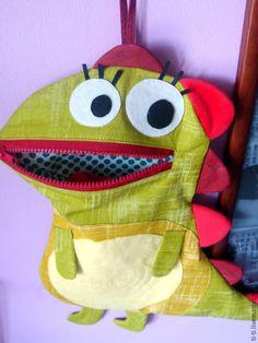 """Купить Игрушка-сумочка НоскоЕд """"Динозавр"""" - разноцветный, игрушка ручной работы, игрушка, игрушка из ткани Sewing For Kids, Coin Purse, Lunch Box, Backpacks, Wallet, Purses, Bags, Pocket Wallet, Handbags"""