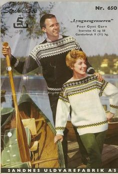 Lyngnesgenseren 650 Norwegian Knitting, Fair Isle Knitting Patterns, Nordic Design, Vintage Knitting, Color Combinations, Embroidery Patterns, Christmas Sweaters, Crochet, Retro