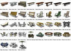Sketchup Furniture Exterior 3D models download – CAD Design   Free CAD Blocks,Drawings,Details