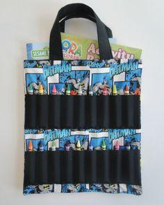 Dinosaur Coloring Book and Crayon Holder Bag/Tote by Shoppebylola ...