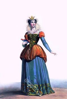Blanche of Navarre. French gothic, burgundian fashion. Medieval clothing. Middle ages Queen costume
