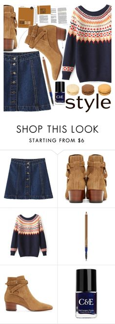 """""""Street Style"""" by stylemoi-offical ❤ liked on Polyvore featuring Estée Lauder, Yves Saint Laurent, Crabtree & Evelyn and stylemoi"""