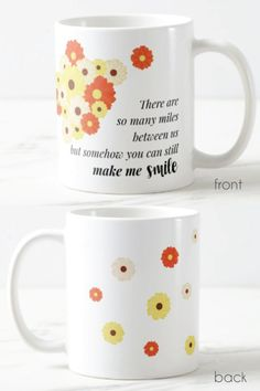 You Make Me Smile Long Distance Friendship Mug | Gifts for long distance BFF