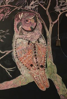 'Midnight Owl' by Joshua Yeldham Owl Art, Bird Art, Owl Pictures, Owl Always Love You, Astral Projection, Animal Totems, Australian Artists, Fantasy Art, Moose Art