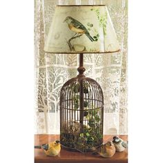 Decoration Impressive Birdcage Table Lamp Metal Material Decorative Accent Stylish Lighting Fixtures Brass Finishh Faux Greenery Modern Home Decor Ideas 27 Mesmerizing Birdcage Lamp