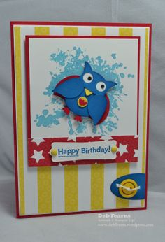 The Super Owl has been made using the Owl Builder punch and Bird Builder punch.
