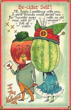 Vintage Valentine post card.