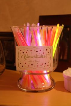 Brilliant and easy for your party guests on the night of New Years Eve. Glow bracelets!: http://www.flashingblinkylights.com/light-up-products/glow-bracelets.html