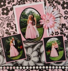 Scrapbook Page - Senior Prom page with flowers - from Everyday Life, Album 14