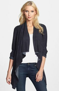 Drape Front Goatskin Suede Jacket use faux suede      Was: $525.00Now: $314.9840% OFF