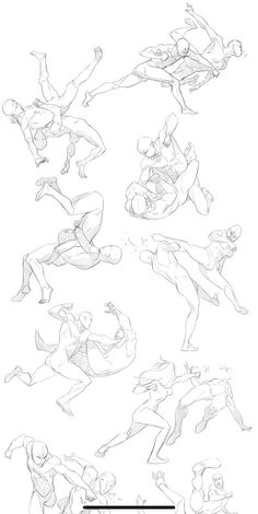 Drawing Body Poses, Body Reference Drawing, Drawing Reference Poses, Anatomy Drawing, Anatomy Art, Fighting Drawing, Fighting Poses, Sketch Poses, Poses References