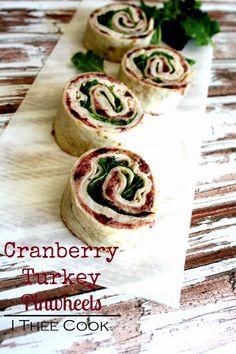 Cranberry Turkey Pinwheels