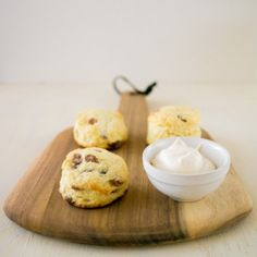 Light and fluffy classic scones with soft and creamy mock Devonshire cream