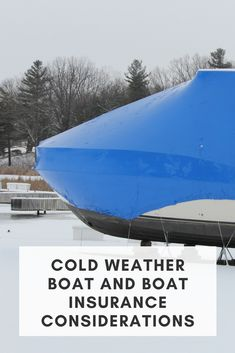 Winter risks can be hard on your boat, so don't cancel your boat insurance just yet... Boat Insurance, Boat Safety, Cold Weather, Winter, Boating, Boots, World, Winter Time, Ships