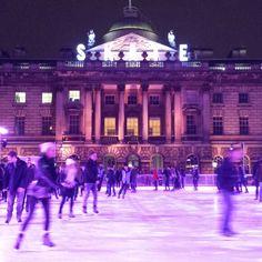 Ice Skating, Somerset House, London ©MavisWang