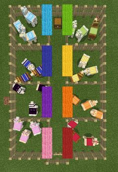 Llama farm - Colour sorted