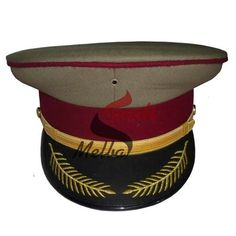It is Military Peaked Cap. We use our best available material to make our best quality peak caps in machine and handmade embroidery. Our range is offered at affordable price to our clients. Contact us for order.