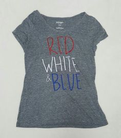 Old Navy Womens Medium Patriotic Shirt, Heather Grey, Red, White, Blue | Clothing, Shoes & Accessories, Women's Clothing, T-Shirts | eBay!