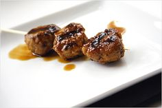 Yakitori (Grilled Chicken Meat Balls) recipe - These are juicy, yummy, and definitely my favorite and a must-have item at yakitori restaurants.