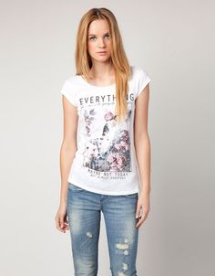 Bershka Romania - BSK butterfly photographic T-shirt