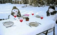 Frosty prefers wine