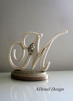 Wedding Cake Topper & Display Monogram Custom by NDetailDesign, $120.99