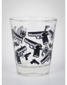 Gun & Shot Pattern Shot Glass