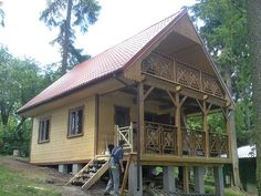 Projekt domu Sosenka drewniana