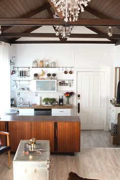 open small space kitchen
