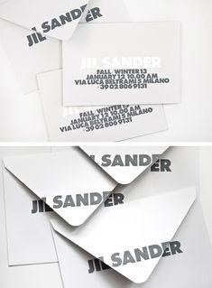 Invite inspo: Jil Sander Mens by Petronio Associates Brand Identity Design, Graphic Design Branding, Corporate Design, Packaging Design, Typography Design, Logo Design, Corporate Identity, Logo Branding, Fashion Invitation