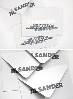 Jil Sander Mens AW13 Invite by Petronio Associates