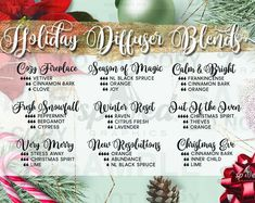 Diffuser Blend Recipes FALL Postcard for Essential Oils Christmas, Essential Oils For Colds, Essential Oils Guide, Essential Oil Diffuser Blends, Essential Oil Uses, Young Living Essential Oils, Affirmations, Les Sentiments, Back To Nature