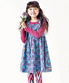 Look what I found on #zulily! Plum Spin Art Yama Dress - Toddler by Matilda Jane Clothing #zulilyfinds